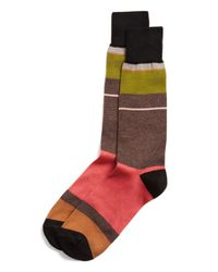 Paul Smith | Red Panel Stripe Socks for Men | Lyst