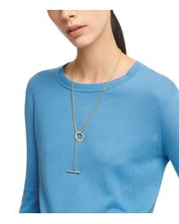 Tory Burch - Metallic Toggle Necklace - Lyst
