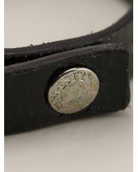DIESEL | Black Leather Bracelet for Men | Lyst