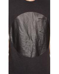 Rag & Bone - Black Graphic Pocket Tee for Men - Lyst