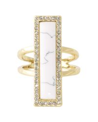 House of Harlow 1960 | Metallic Illuminating Rectangle Ring | Lyst