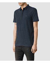 AllSaints - Blue Auden Baltis Polo for Men - Lyst