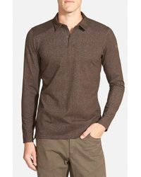 Arc'teryx - Brown 'captive' Trim Fit Performance Long Sleeve Polo for Men - Lyst