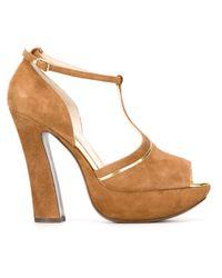 L'Autre Chose - Natural Platform Sandals - Lyst
