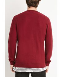 Forever 21 | Purple Thermal Knit Sweater for Men | Lyst