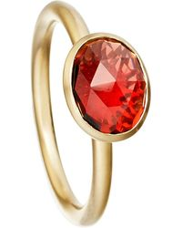 Astley Clarke | Metallic Garnet Oval Stilla 18ct Yellow Gold-plated Ring - For Women | Lyst