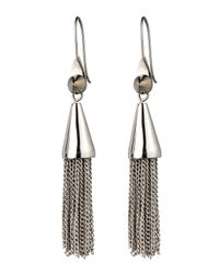 Eddie Borgo - Metallic Small Silvertone Chain Tassel Drop Earrings - Lyst