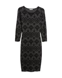 H&M | Black Fine-Knit Dress | Lyst