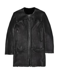 Isabel Marant - Black Boyce Shearling Coat - Lyst