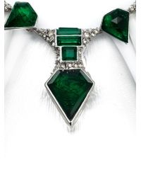 Alexis Bittar - Green Embellished Bib Necklace - Lyst