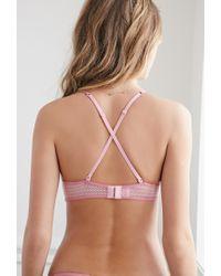 Forever 21 | Pink Pointelle Overlay Wireless Bra | Lyst