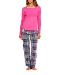 DKNY   Purple Perfect Knit Top   Lyst