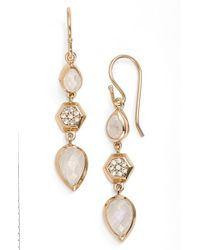 Melinda Maria - Metallic 'levi' Linear Earrings - Lyst