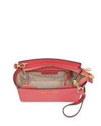 Michael Kors - Pink Selma Medium Saffiano Leather Messenger Bag - Lyst