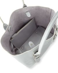 Alexander McQueen - Gray Legend Small Leather Tote Bag - Lyst
