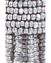 Oscar de la Renta | Metallic Silver Tassel Earrings | Lyst