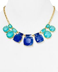 kate spade new york - Blue Cause A Stir Graduated Necklace 18 - Lyst