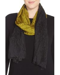 Eileen Fisher - Black Wool & Silk Scarf - Lyst