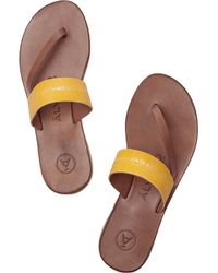 Alvaro - Yellow Alberta Stingray And Leather Sandals - Lyst