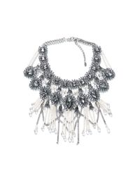 Zara | Metallic Fringe and Chain Necklace | Lyst