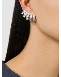 Ca&Lou | Metallic Glass Multiple Cuff Earrings | Lyst