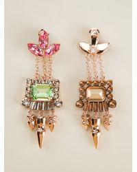 Mawi | Metallic Crystal Drop Earrings | Lyst