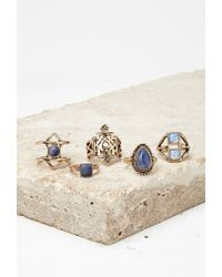 Forever 21 | Blue Faux Stone Ring Set | Lyst