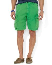 Polo Ralph Lauren - Green Relaxed-Fit Corporal Cargo Shorts for Men - Lyst