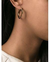 KENZO - Metallic 'eye' Hoop Earrings - Lyst