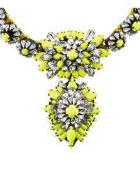 Shourouk - Yellow Cora Zambia Necklace - Lyst