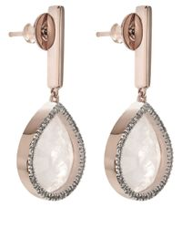 Monica Vinader | Pink Rose Diva Lotus Drop Earrings | Lyst