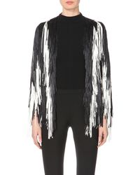 Tim Ryan - White Fringed Knitted Jacket - Lyst