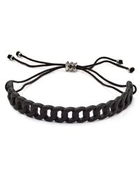 Marc By Marc Jacobs - Black Solidly Linked Friendship Bracelet - Lyst