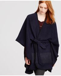 Ann Taylor | Blue Belted Cape | Lyst