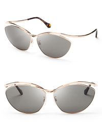 Balenciaga - Metallic Cat Eye Sunglasses - Lyst