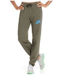 Nike | Green Rally Fleece Sweatpants | Lyst