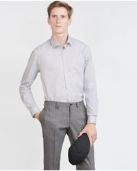 Zara | Gray Printed Shirt for Men | Lyst