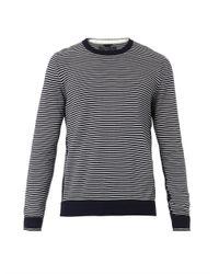Rag & Bone - Blue Jayden Striped Crew-Neck Sweater for Men - Lyst