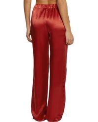 Carine Gilson   Red Silk-Satin Pajama Pants   Lyst