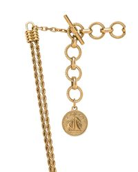 Lanvin - Metallic Knotted Chain Pendant Necklace - Lyst
