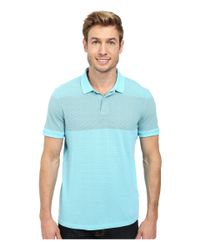 Calvin Klein Jeans - Blue Pigment Overdyed Stripe Polo for Men - Lyst