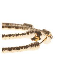 Aurelie Bidermann   Metallic 'soho' Hoop Earrings   Lyst