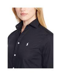 Polo Ralph Lauren | Black Slim-fit Poplin Shirt | Lyst