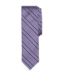 Brooks Brothers - Purple Twin Stripe Slim Tie for Men - Lyst