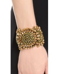Vera Wang Collection | Black Bracelet - Gold | Lyst