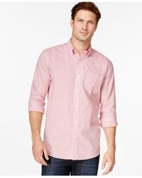 Cutter & Buck | Pink Big And Tall Men's Tattersall Button-down Shirt for Men | Lyst