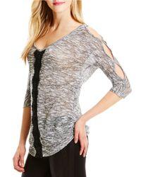 Jessica Simpson | Black Cutout Sleeve Sweater | Lyst