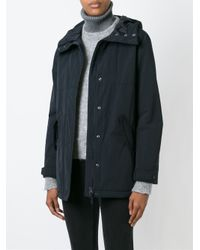 Aspesi - Blue Short Hooded Coat - Lyst