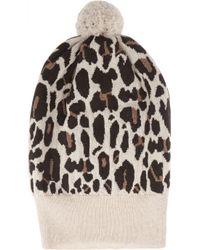 Rosie Sugden - Multicolor Cashmere Leopard-print Beanie - Lyst