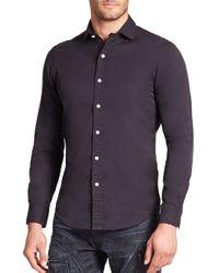 Polo Ralph Lauren   Blue Slim-fit Twill Estate Sportshirt for Men   Lyst